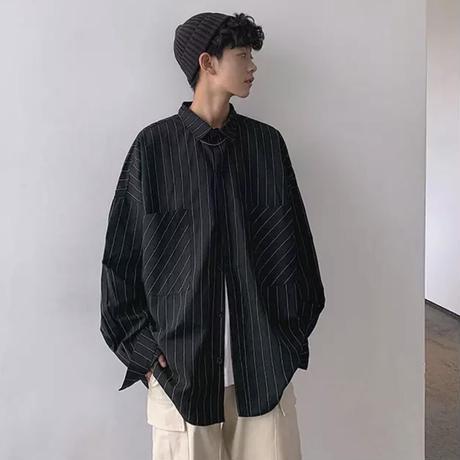 オーバーサイズストライプシャツ【LA00242】