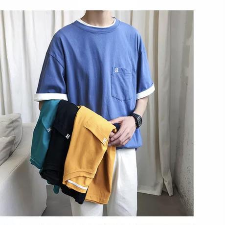 ポケットビックシンプルTシャツ【S00048】