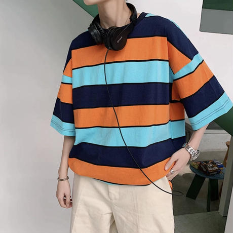 ビックストライプTシャツ【PR00030】