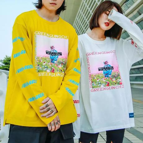 GREENデザインロングTシャツ【MM00246】