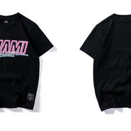 [COOL]MIAMIデザインTシャツ 2カラー