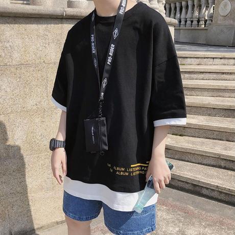 レイヤーシンプルオーバーサイズTシャツ【B00029】