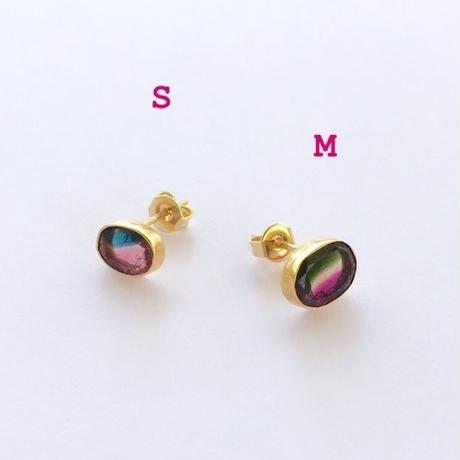 Colours in your ears / Watermelon Tourmaline