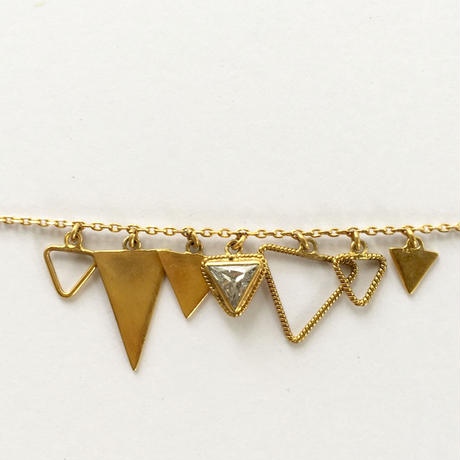 Triangle Bracelate / white zircon