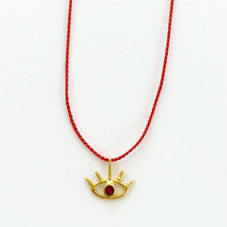 Silk code Third eye necklace/Ruby