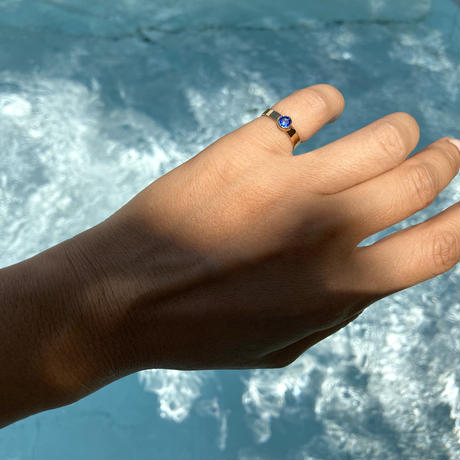 1stone ring / Thick