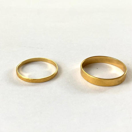 Stacking gold ring / Thin &Thick