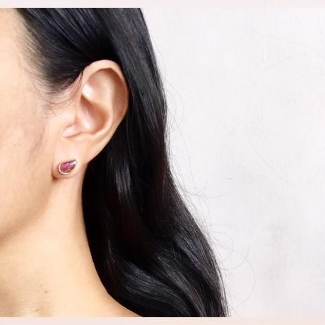 Tourmaline pierce / Hand cut leaves