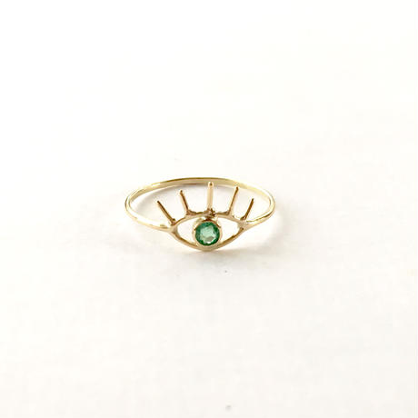 Open your eye Ring / Emerald