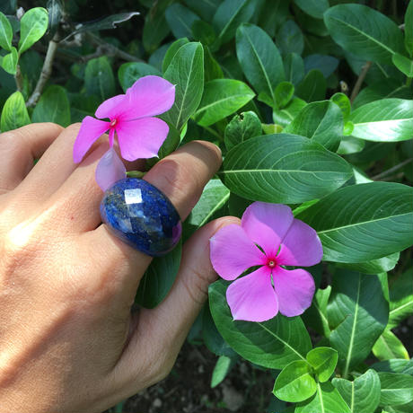 Hand cut One of a kind Ring / Lapis Lazulih