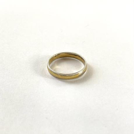 Circle &Twist ring / Yellow gold