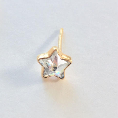 18ct gold Star  earring