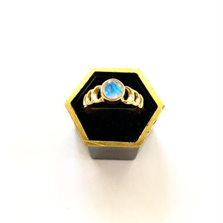 Eclipse Ring / Rainbow Moonstone