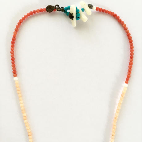 Stone beads necklace / Red
