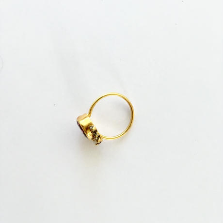 Planet and crescent moon Ring