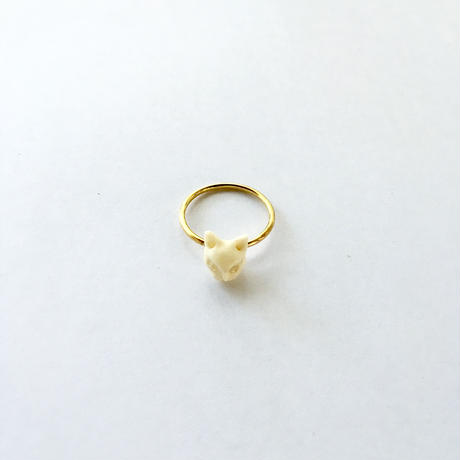 Kitty catty Ring / Baffalo horn&Bone