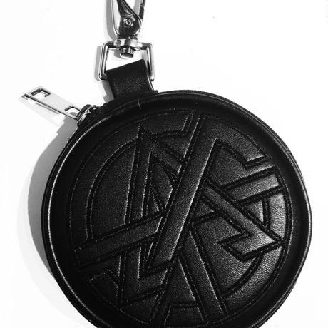 PU Circle Coin Case [ TRNGL ] BLACK - PUサークルコインケース ブラック