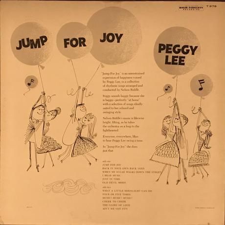 Peggy Lee/Jump For Joy (Capitol T979)MONO オリジナル盤