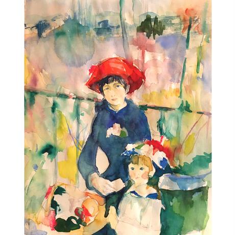 ルノワール「二人の姉妹」の模写