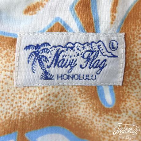 NAVY FLAG アロハシャツ Lサイズ(A-253)
