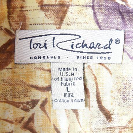 トリリチャード/Tori Richard アロハシャツ Lサイズ(A-176)