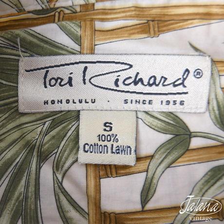 トリリチャード/Tori Richard アロハシャツSサイズ(A-062)