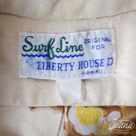 60~70年代 サーフライン/SurfLine アロハシャツ Lサイズ(A-029)