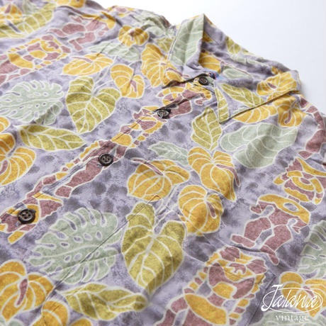 80年~90年代初期 レインスプーナー/reyn spooner アロハシャツ Lサイズ(A-224)