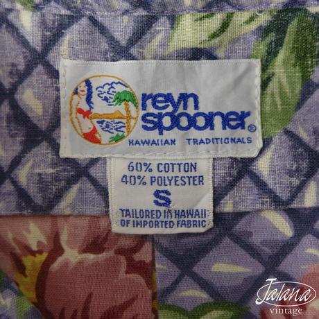 90年代レインスプーナー/reyn spooner アロハシャツSサイズ(A-045)