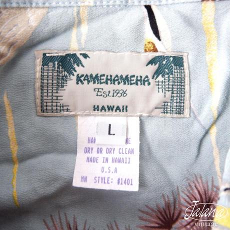 デッドストック カメハメハ/Kamehameha アロハシャツLサイズ(A-097)