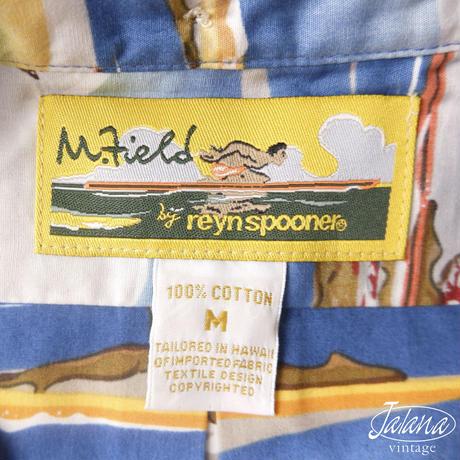 デッドストック M.field byレインスプーナー/reyn spooner アロハシャツ Mサイズ(A-197)