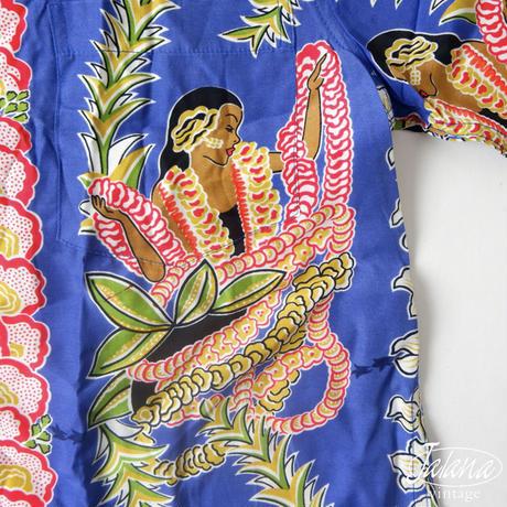 デッドストック カメハメハ/Kamehameha アロハシャツMサイズ(A-098)