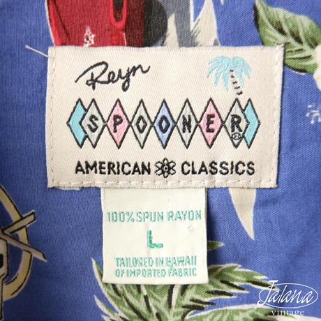 AMERICAN CLASSICS レインスプーナー/reyn spooner アロハシャツ Lサイズ(A-248)