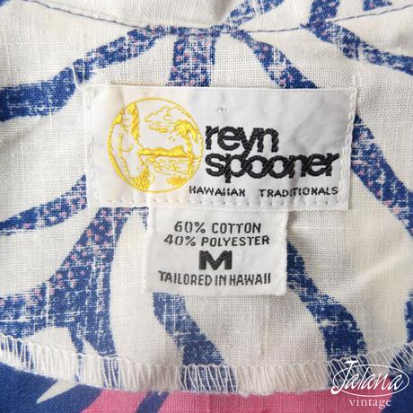 70年代後期~80年代前期レインスプーナー/reyn spooner アロハシャツ Mサイズ(A-052)