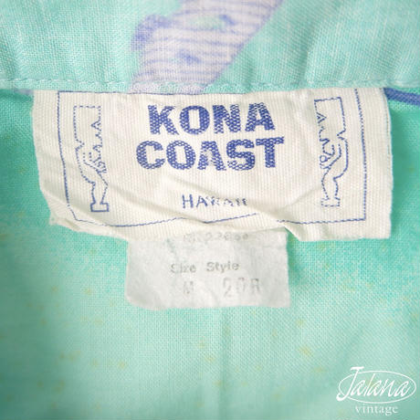 70年代 コナ コースト/KONA COAST アロハシャツ Mサイズ(A-068)