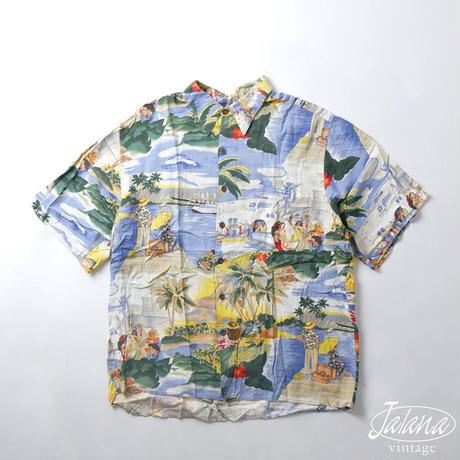 80年~90年代初期 レインスプーナー/reyn spooner アロハシャツ Lサイズ(A-217)