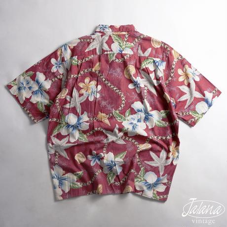 ALFRED SHAHEEN レインスプーナー/reyn spooner アロハシャツ Lサイズ(A-268)