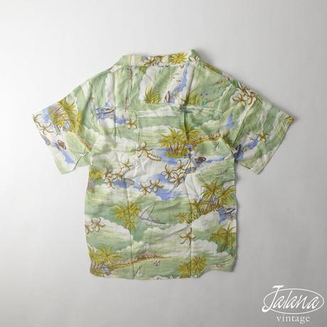 ROYAL MANOR アロハシャツ BOY'S Lサイズ(A-066)