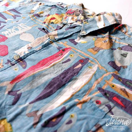 90年代 レインスプーナー/reyn spooner アロハシャツ Mサイズ(A-012)