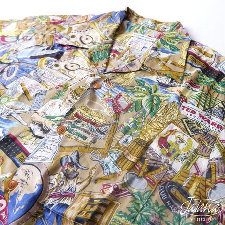 90年代 Exclusive Apparel By reyn spoonerレインスプーナー/reyn spooner アロハシャツ Sサイズ(A-053)