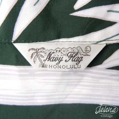 NAVY FLAG アロハシャツ Lサイズ(A-229)