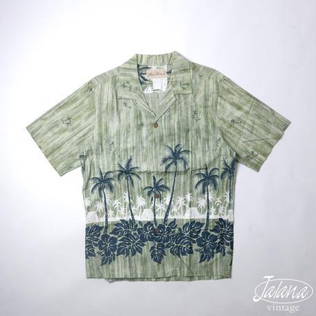 BLUE HAWAII/ブルーハワイ アロハシャツ Mサイズ(A-164)