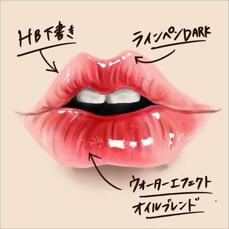 Procreateイラスト&ブラシセット【リップ唇】