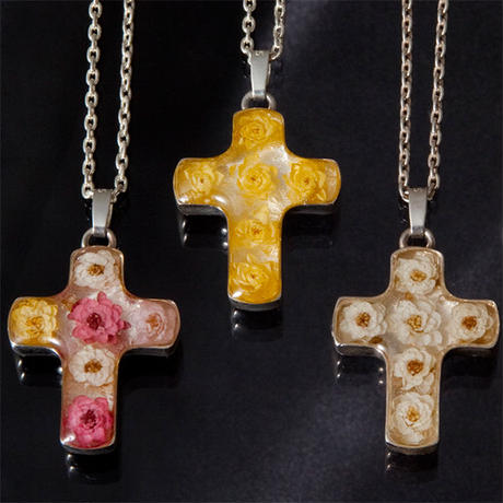 visceral Viburnum Cross Necklace