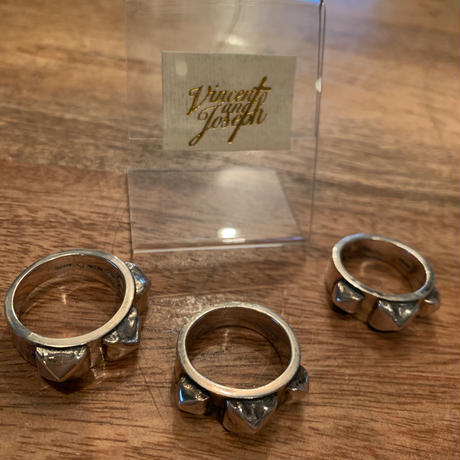 vincent and joseph  vintage ring silver スタッズ