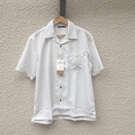 市松グラデーション開襟シャツ
