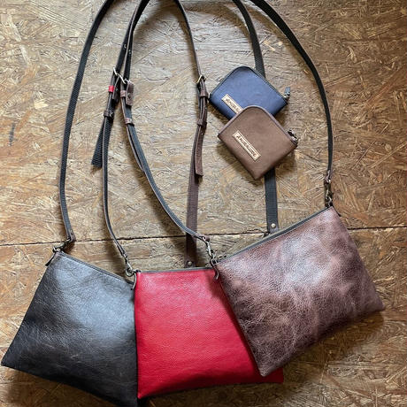 original handmade vintage leather zipper bag