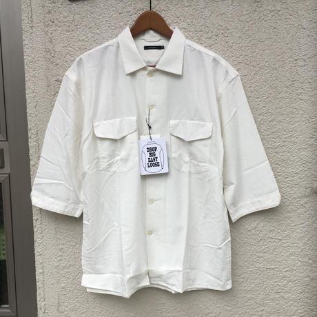 レーヨン無地開襟シャツ