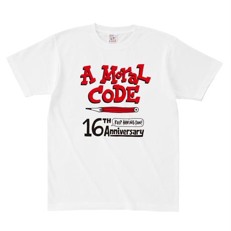 先行予約!16周年AMORALCODE@hugo Tシャツ ホワイト