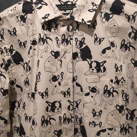 フレンチブルドック柄シャツ